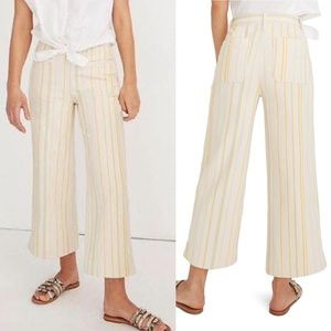 NWT Madewell Emmett Yellow White Striped Jeans 32